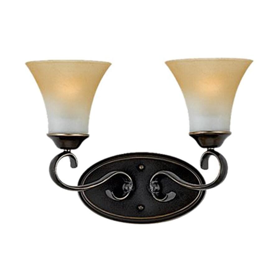 Cascadia Lighting Duchess 2-Light Palladian Bronze Bell Vanity Light