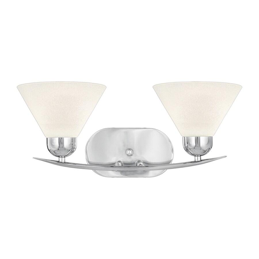 Cascadia Lighting Demitri 2-Light Polished Chrome Cone Vanity Light