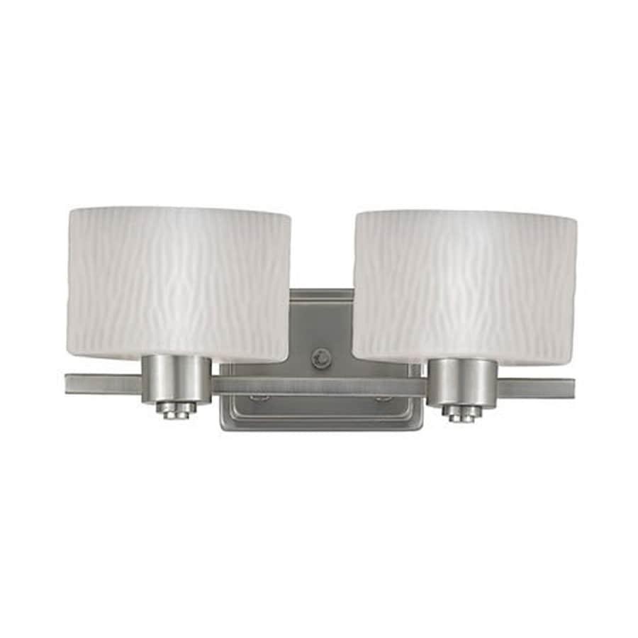 Cascadia Lighting Pacifica 2-Light Empire Silver Oval Vanity Light