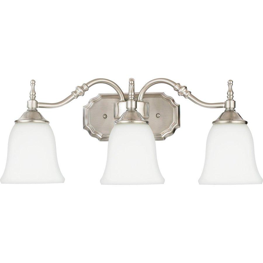 Cascadia Lighting Tritan 3-Light Brushed Nickel Bell Vanity Light