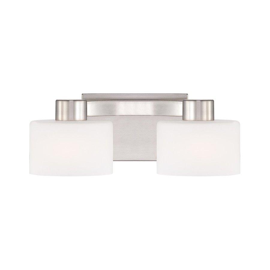 Vanity Lights For Bathroom Brushed Nickel : Shop Cascadia Lighting 2-Light Tatum Brushed Nickel Bathroom Vanity Light at Lowes.com