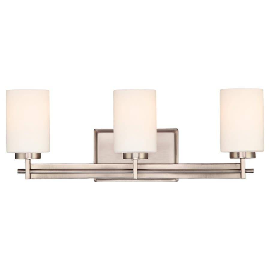 Cascadia Lighting Taylor 3-Light Antique Nickel Cylinder Vanity Light