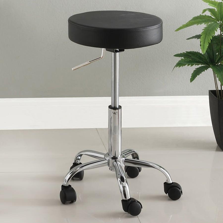 Furniture of America Ascon Black 27-in Adjustable Stool