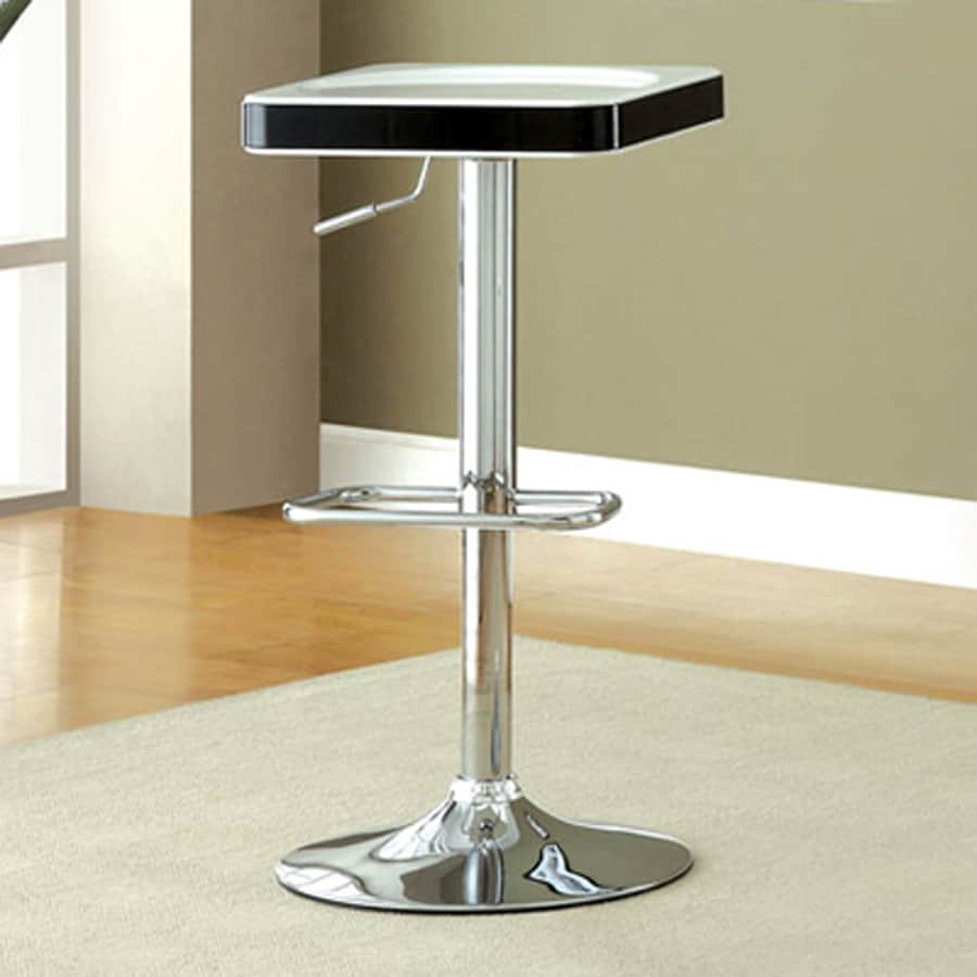 Furniture of America Set of 2 Veria White/Black 32.38-in Adjustable Stools