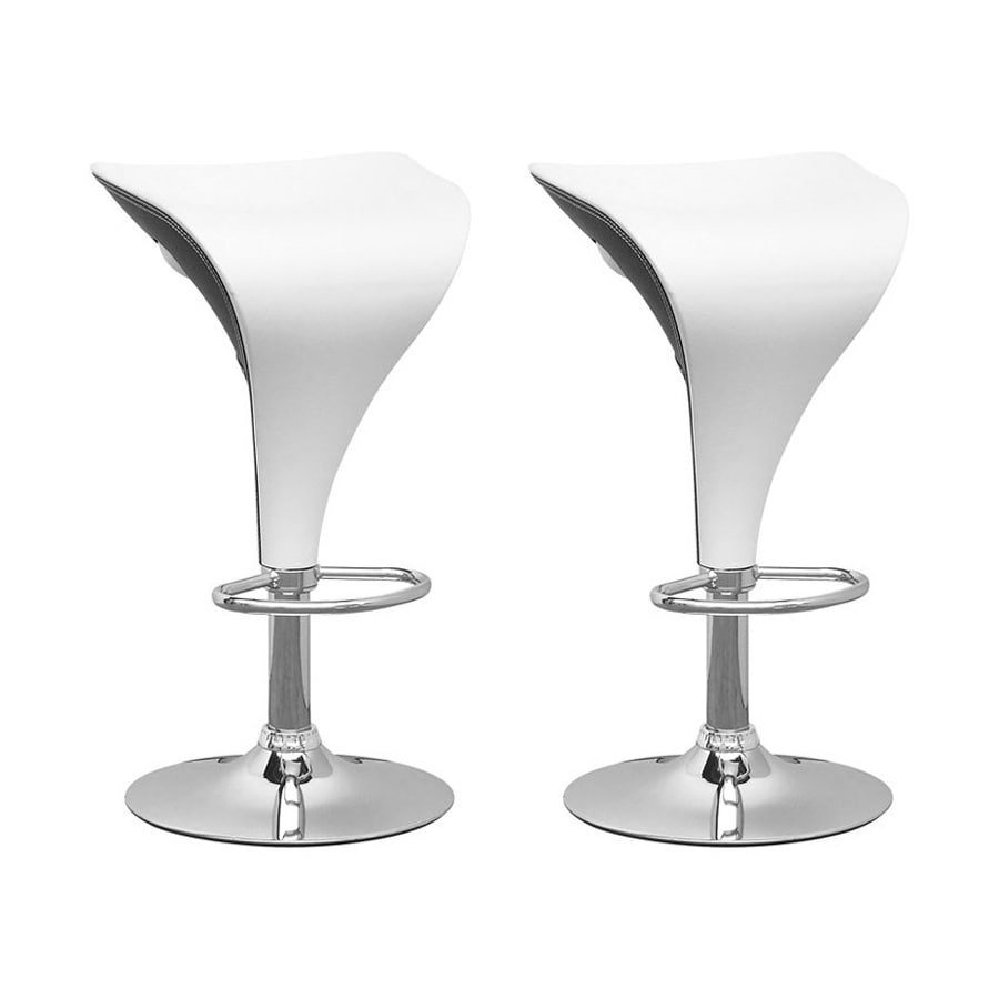 CorLiving Set of 2 White 26.75-in Adjustable Stools