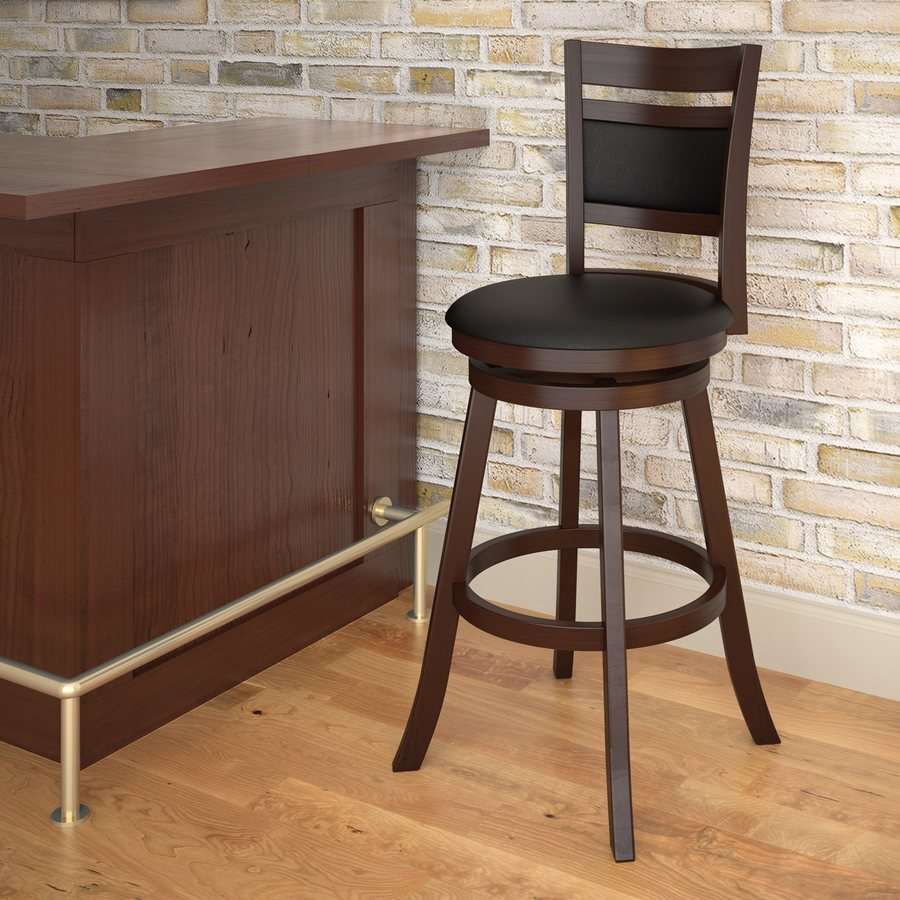 Shop Corliving Corliving Woodgrove Black 29 In Bar Stool At