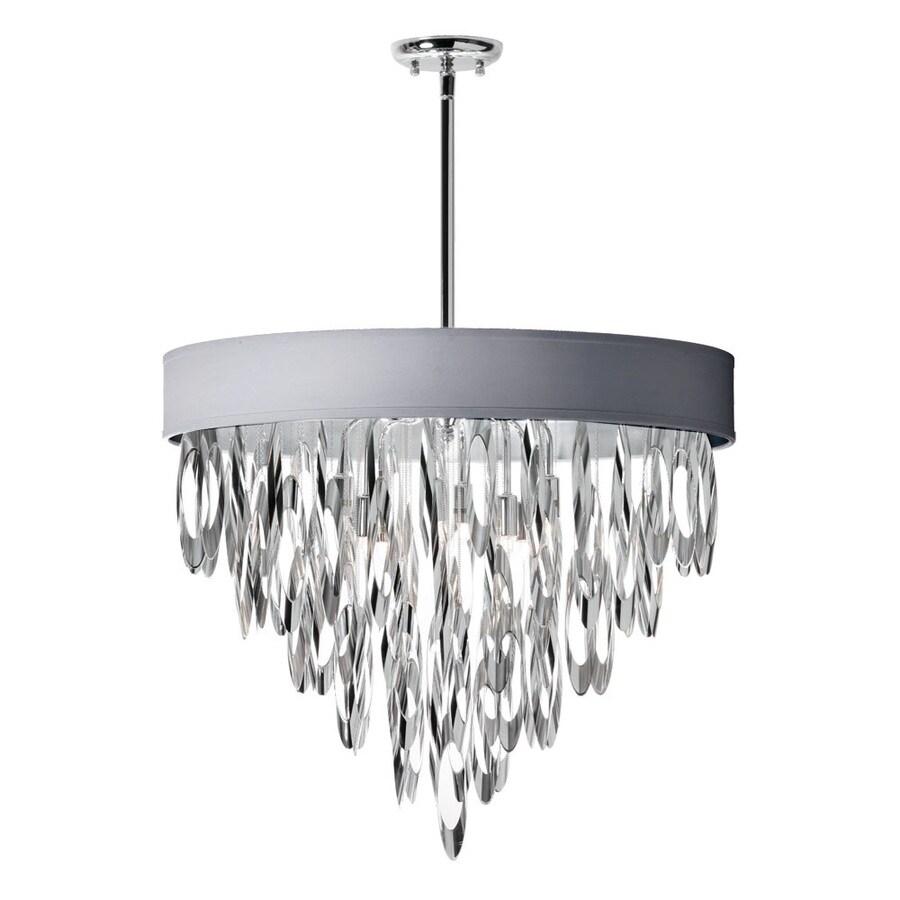 Dainolite Lighting Allegro 24-in 8-Light Polished Chrome Waterfall Chandelier
