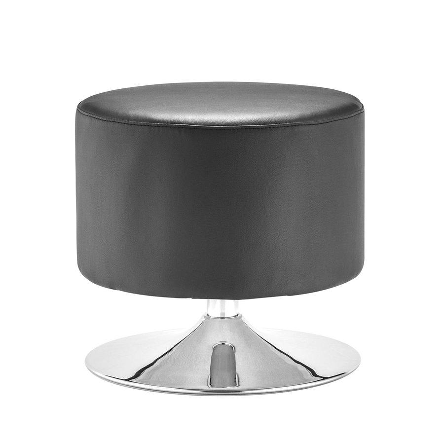 Zuo Modern Plump Black Round Ottoman