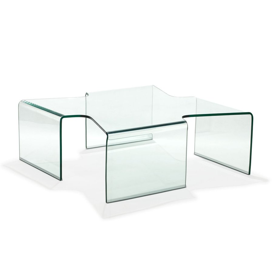 Shop Zuo Modern March Clear Tempered Glass Coffee Table