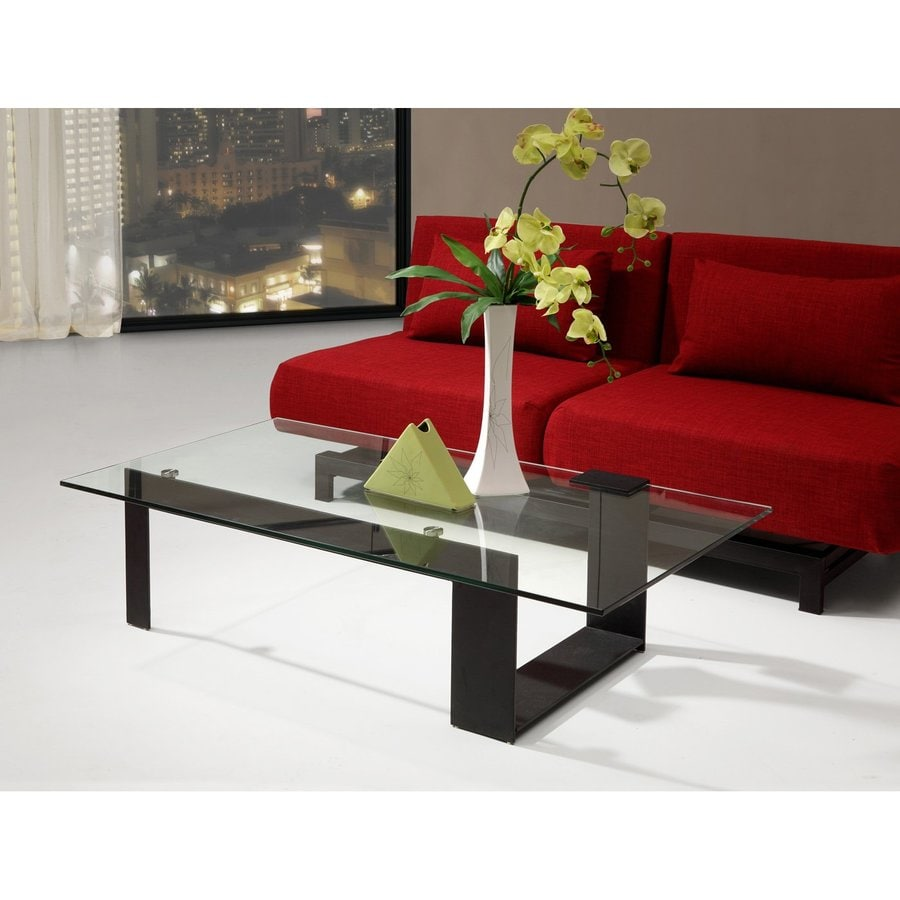 Shop Zuo Modern Zeon Black Metal And Tempered Glass Rectangular Coffee Table At