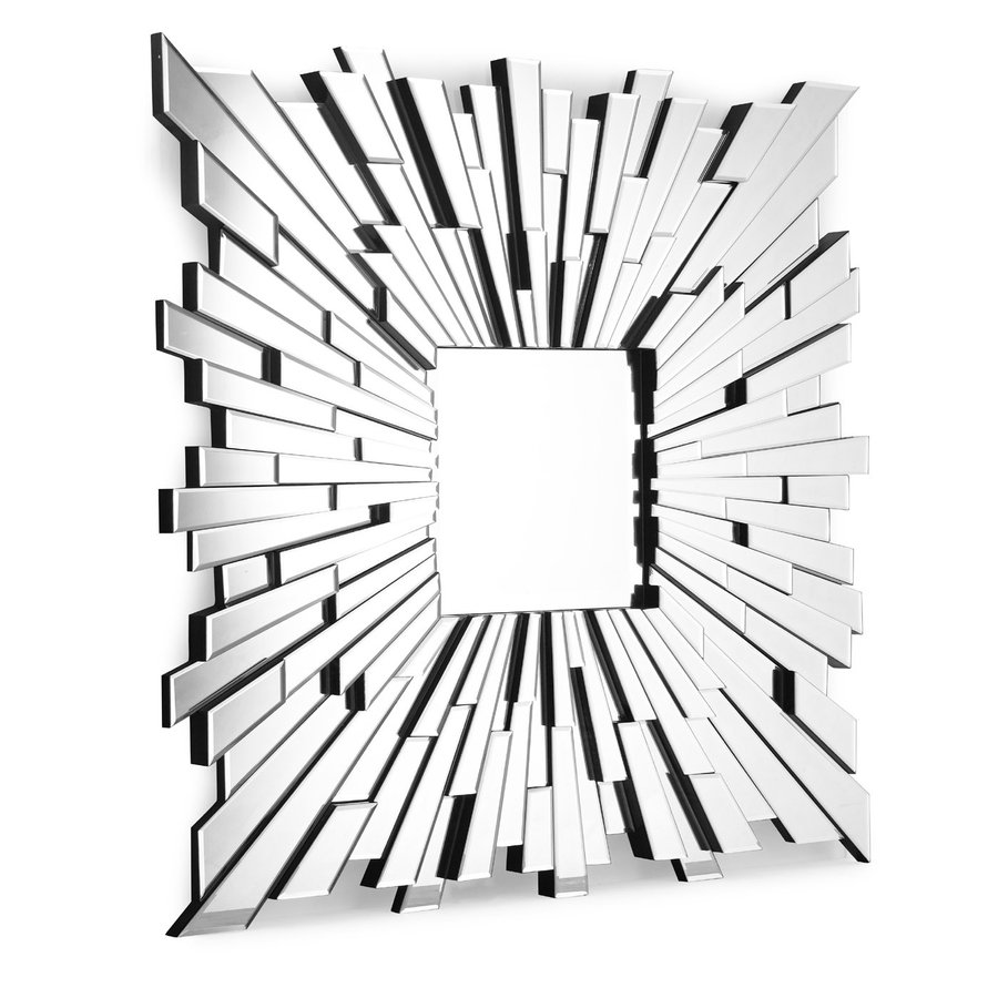 Zuo Modern Bang 47-in x 47-in Silver Polished Square Framed Wall Mirror