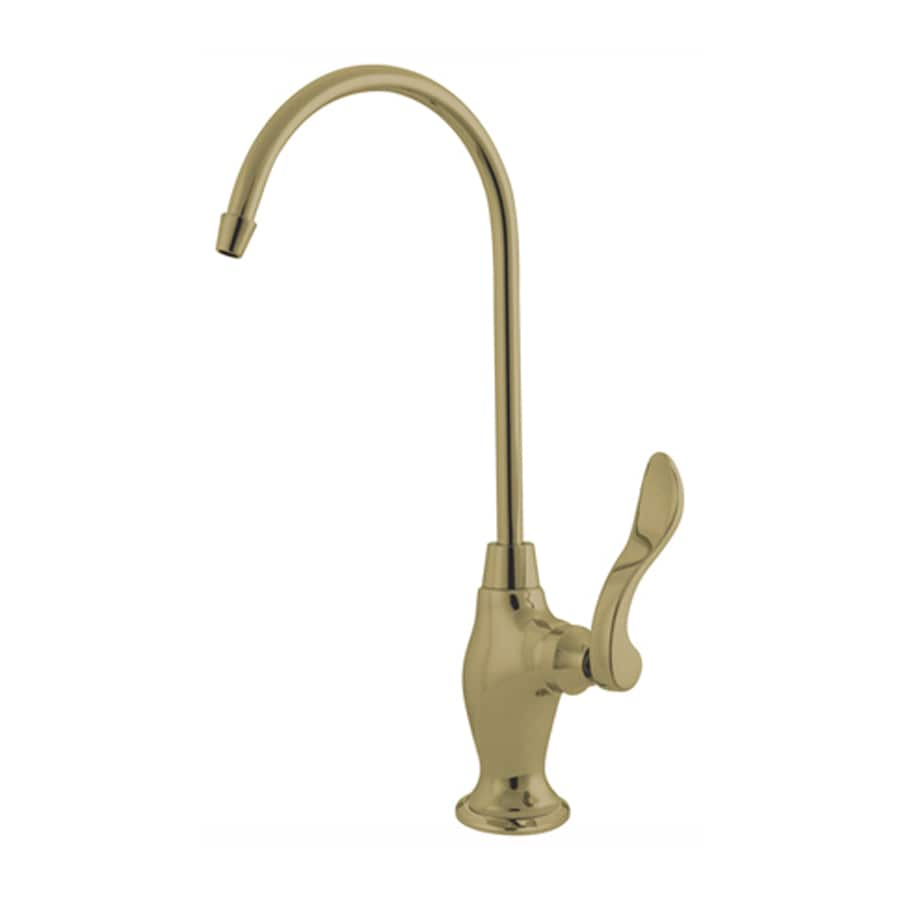 Elements of Design Polished Brass Cold Water Dispenser with High Arc Spout