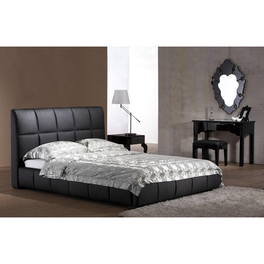 Zuo Modern Amelie Black Leatherette King Platform Bed