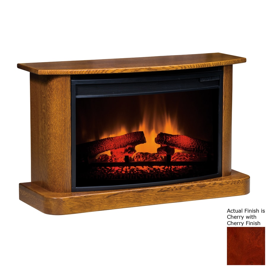 Topeka Innovative Concepts 37-in W 4770-BTU Cherry Wood LED Electric Fireplace with Thermostat and Remote Control
