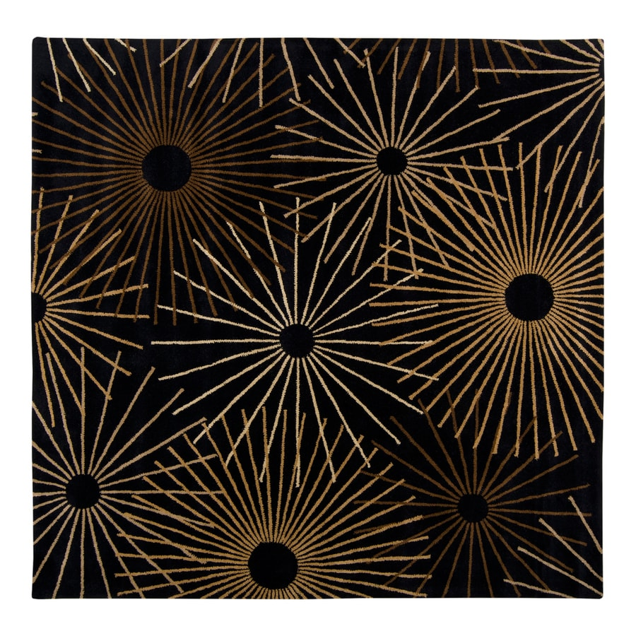 Surya Forum Black Square Indoor Tufted Area Rug (Common: 9-ft x 9-ft; Actual: 9-ft 9-in W x 9-ft 9-in L)