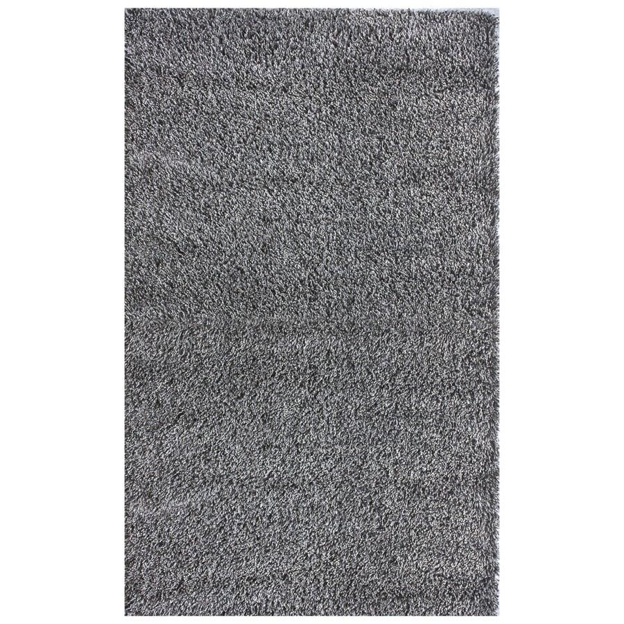 nuLOOM Gray Rectangular Indoor Shag Area Rug (Common: 8 x 10; Actual: 96-in W x 120-in)