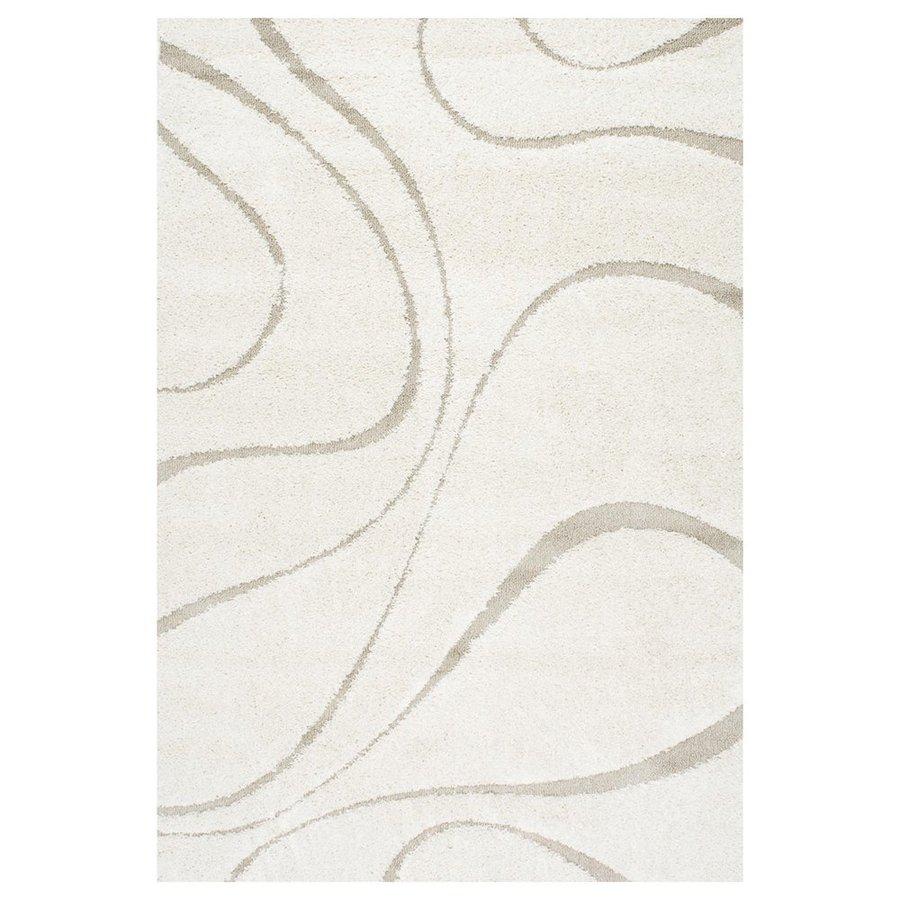 nuLOOM Cream Rectangular Indoor Shag Area Rug (Common: 4 x 6; Actual: 48-in W x 72-in)