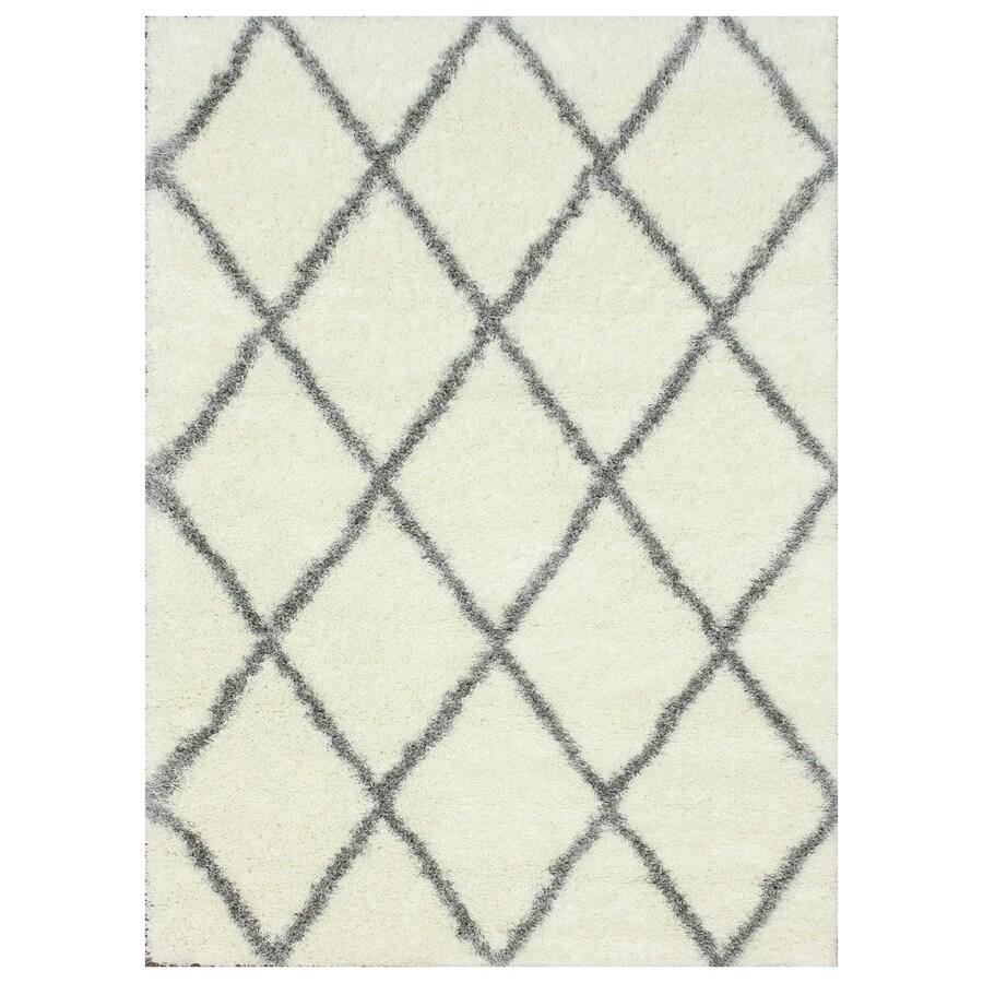 nuLOOM Gray Rectangular Indoor Shag Area Rug (Common: 4 x 6; Actual: 48-in W x 72-in)