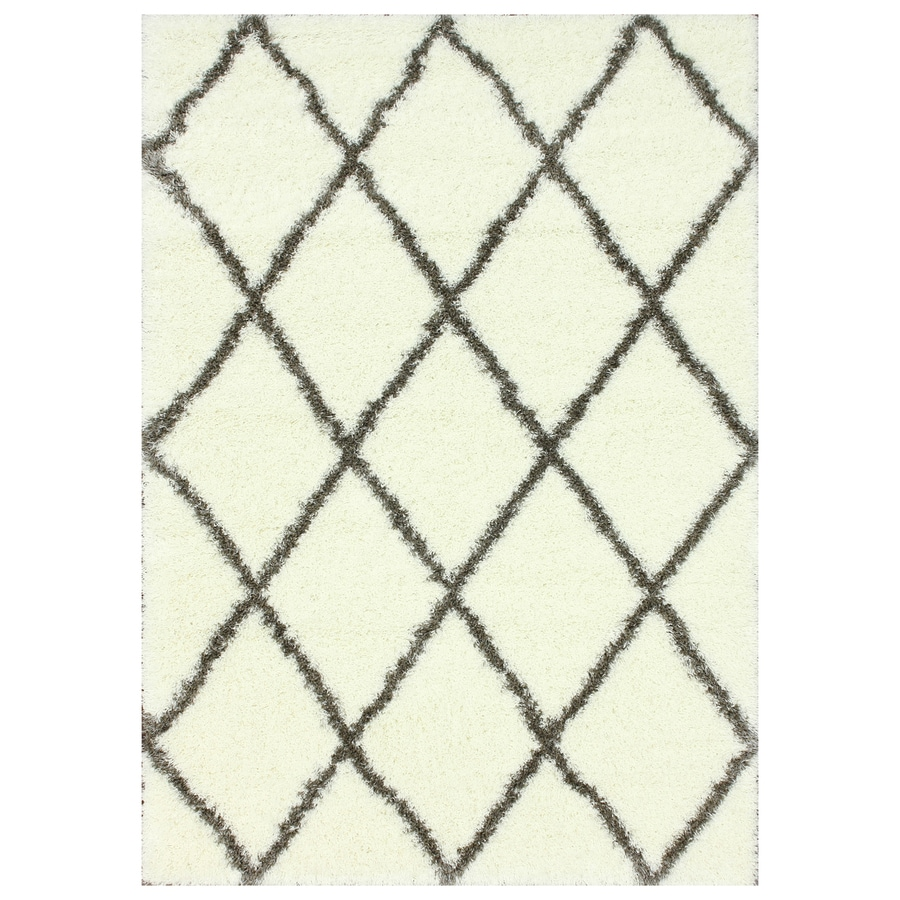 nuLOOM Brown Rectangular Indoor Shag Area Rug (Common: 4 x 6; Actual: 48-in W x 72-in)