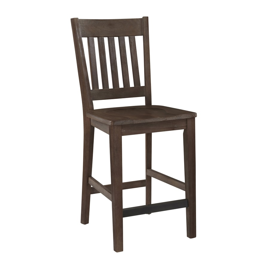 Home Styles 1 Barnside Aged Barnside 24-in Counter Stool