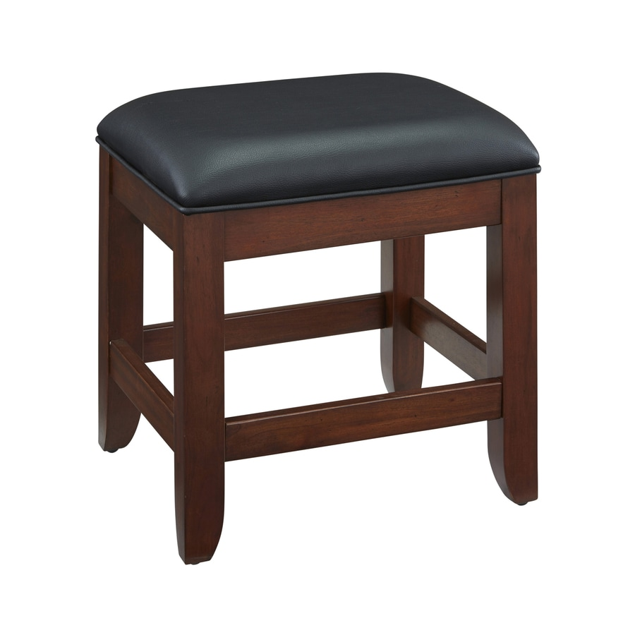 Shop Home Styles 15.5-in H Cherry Rectangular Makeup Vanity Stool At Lowes.com