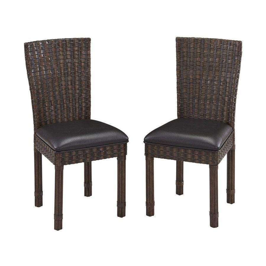 Home Styles 2 Castaway Two-Tone Dark Chocolate Side Chair