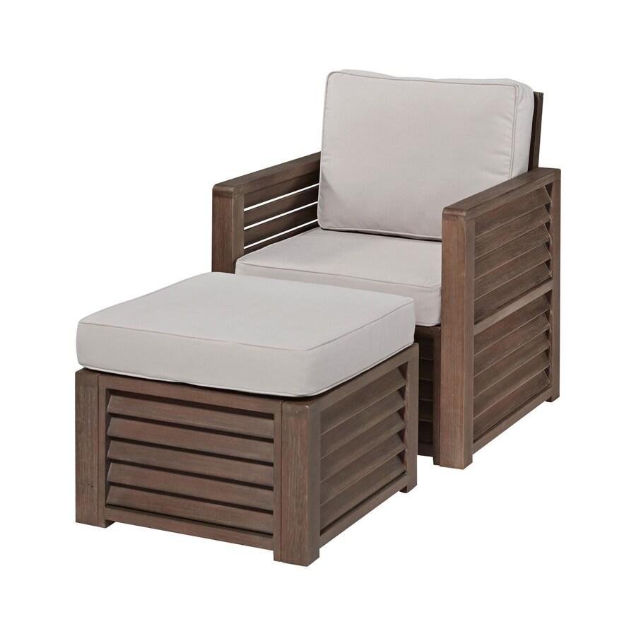 Home Styles Barnside Aged Shorea Patio Conversation Chair