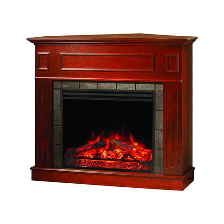 Shop Muskoka 47 In W Btu Cherry Wood Corner Or Flat Wall Electric Fireplace With Remote Control