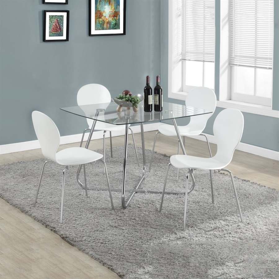 Monarch Specialties Set of 4 White Side Chairs