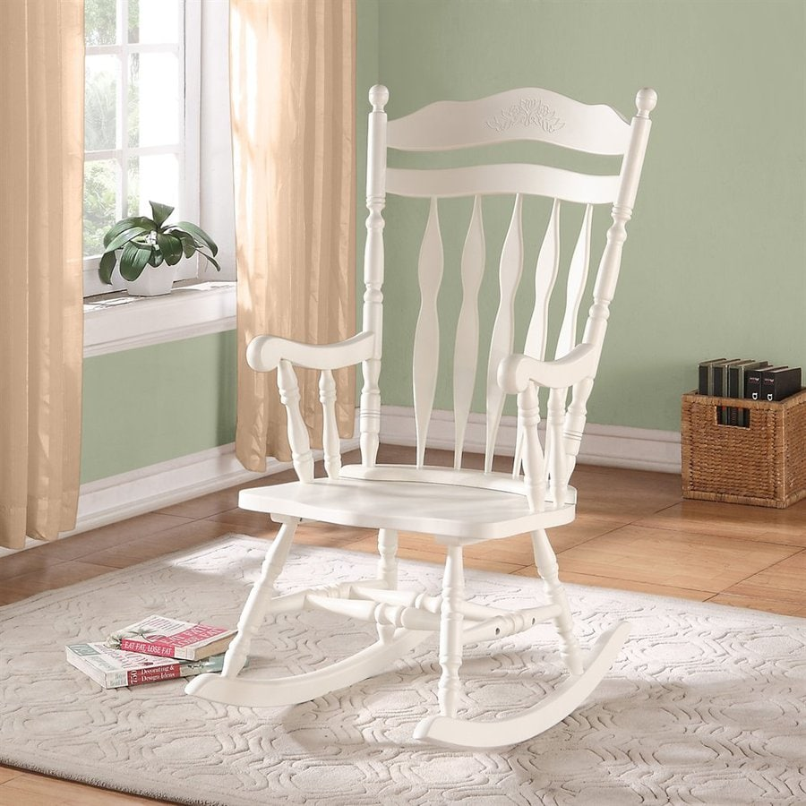 Monarch Specialties Antique White Rocking Chair