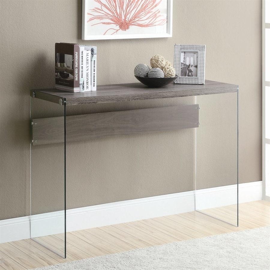 Monarch Specialties Dark Taupe Composite Rectangular Console and Sofa Table