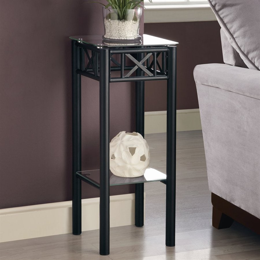 ... Specialties 28.5-in Black Indoor Square Glass Plant Stand at Lowes.com