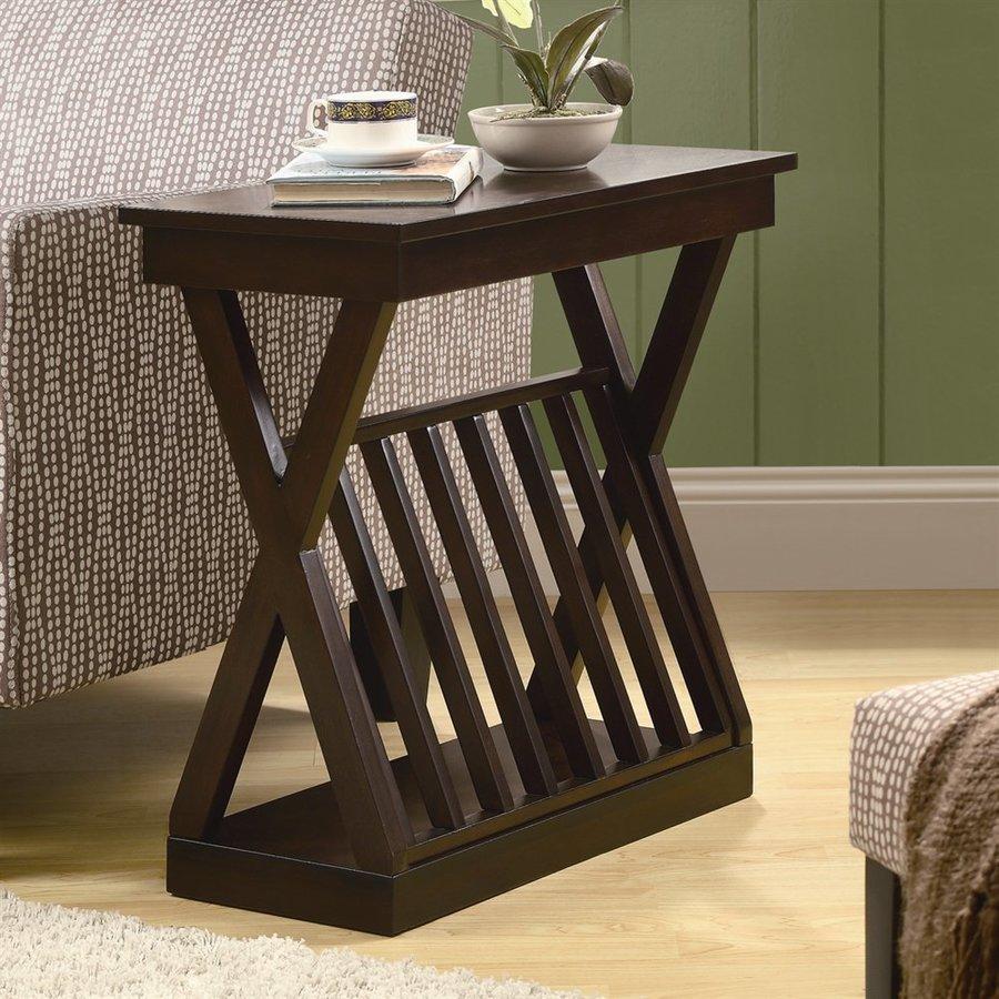 Monarch Specialties Cappuccino Composite Rectangular End Table