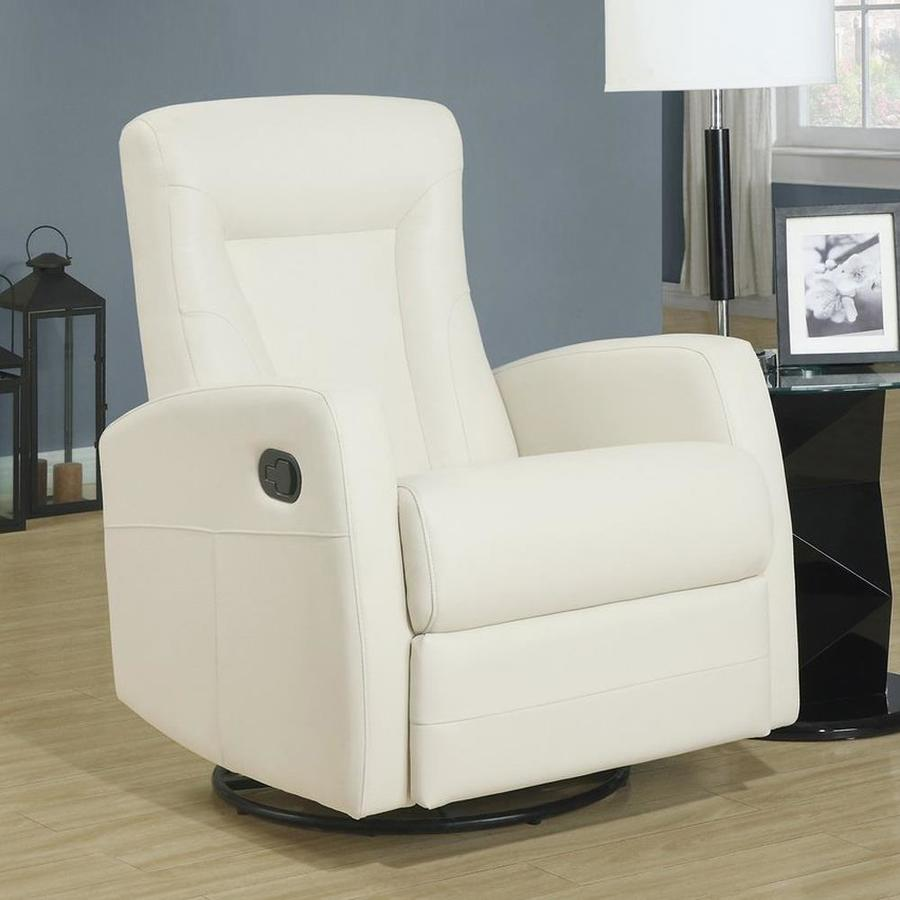 Monarch Specialties Ivory Bonded Leather Recliner
