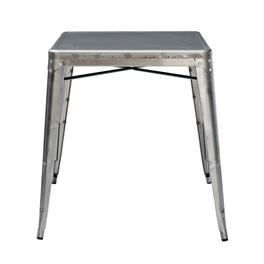 Shop crosley furniture amelia galvanized rectangular for Table exterieur galvanise