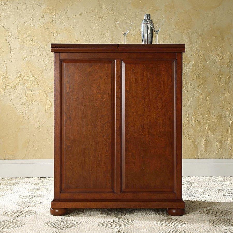 Crosley Furniture Alexandria 31.25-in x 42-in (Composite) Rectangle Cabinet Bar