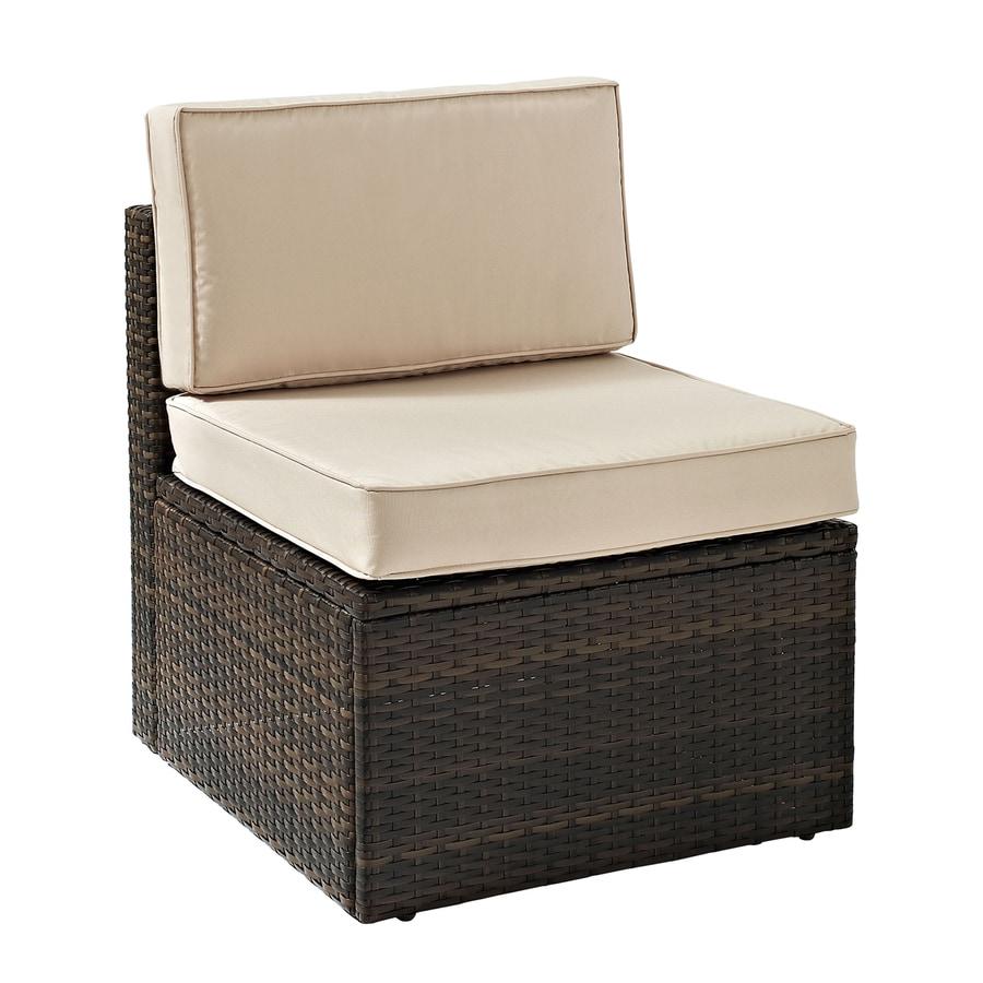 Crosley Furniture Palm Harbor Brown Wicker Patio Conversation Chair