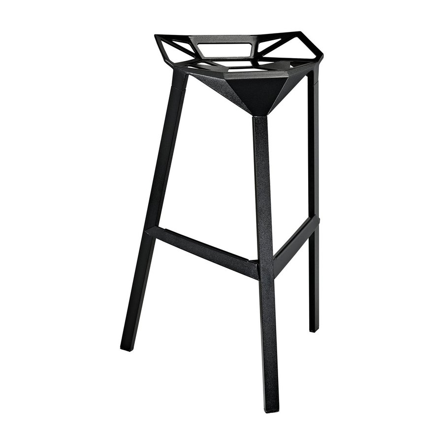 Modway Launch Black 30.5-in Bar Stool