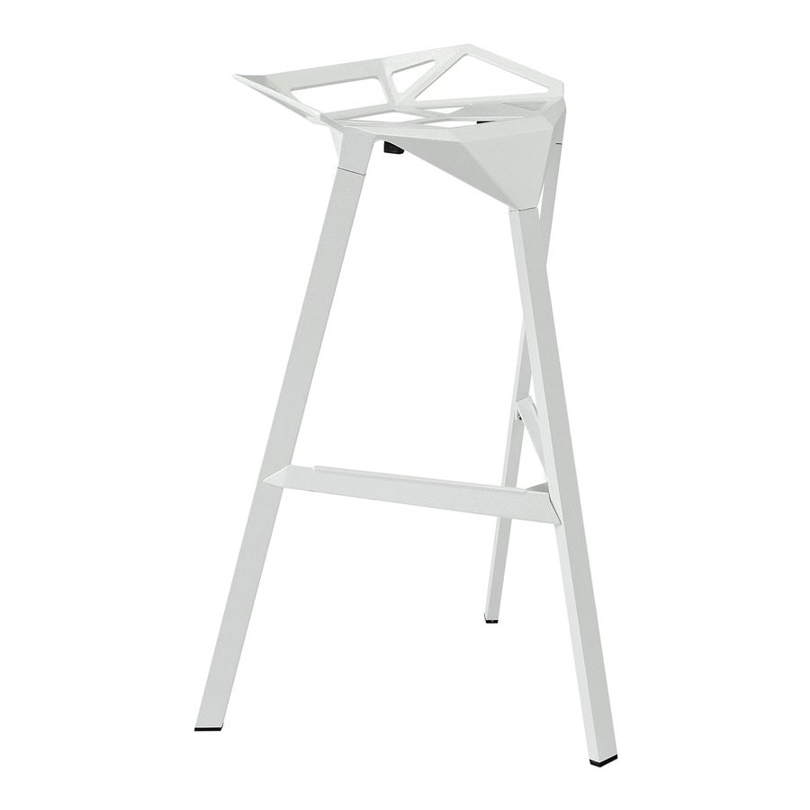 Modway Launch White 30.5-in Bar Stool