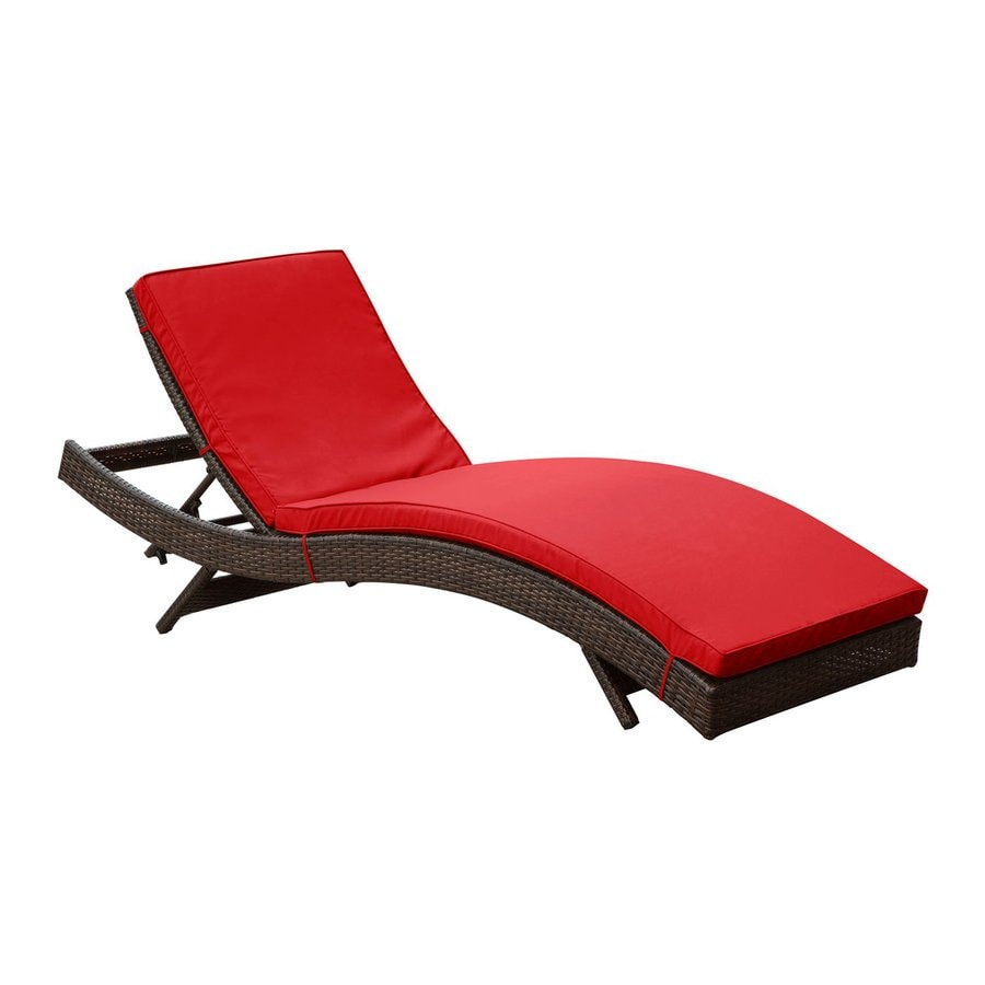 Shop Modway Peer Espresso Rattan Plastic Stackable Patio Chaise Lounge Chair
