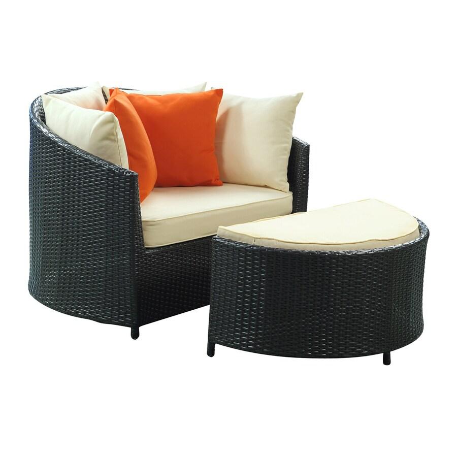 Shop Modway Robin Espresso Rattan Plastic Patio Conversation Chair At