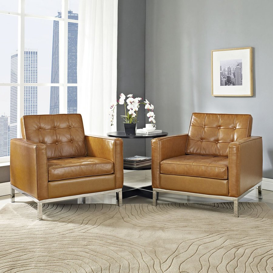 Modway Set Of 2 Loft Tan Accent Chair
