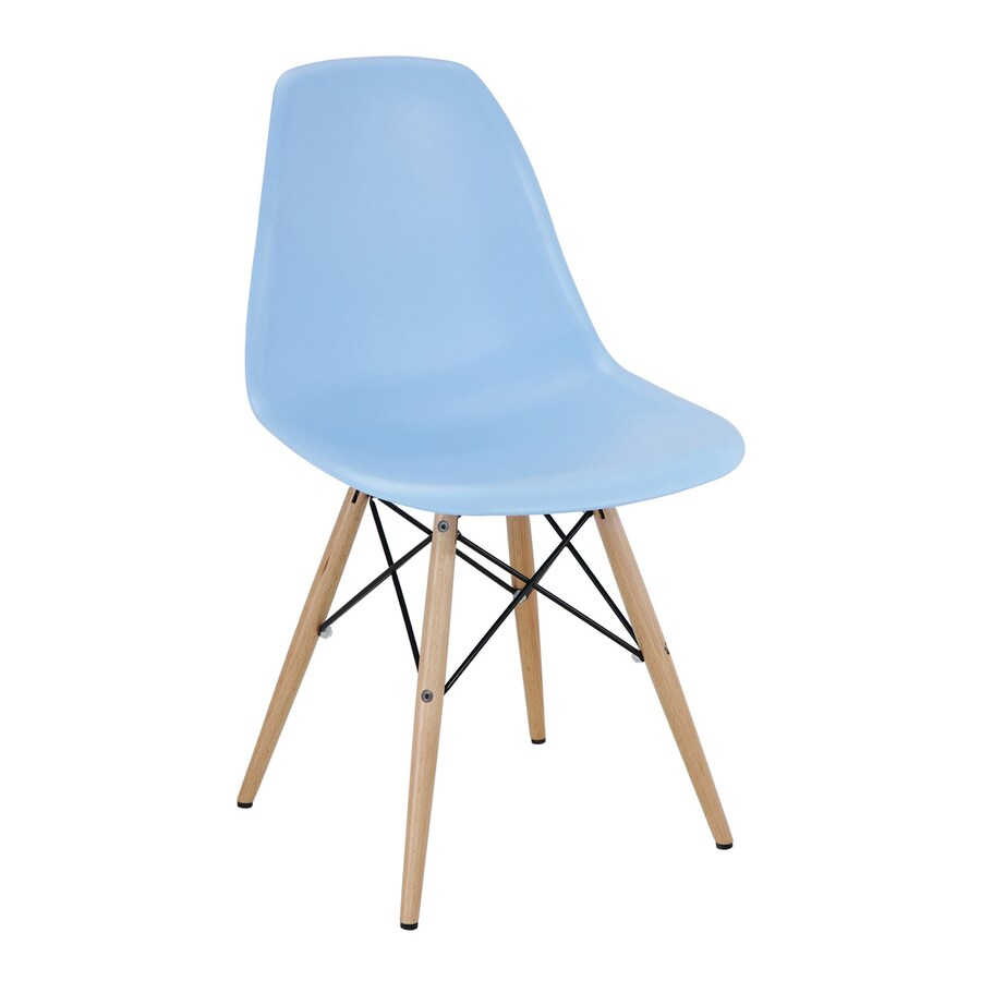 Modway Pyramid Blue Stackable Side Chair