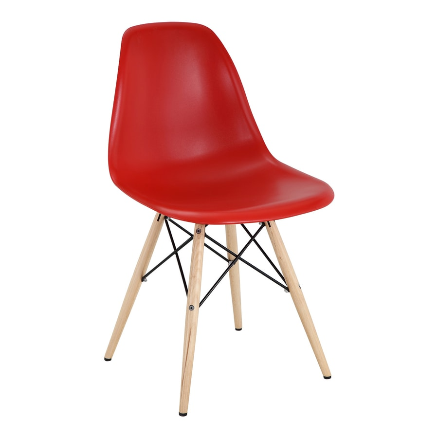 Modway Pyramid Red Stackable Side Chair