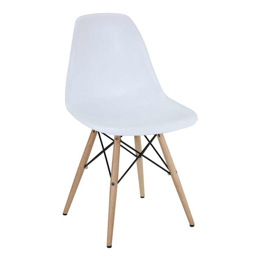 Modway Pyramid White Stackable Side Chair