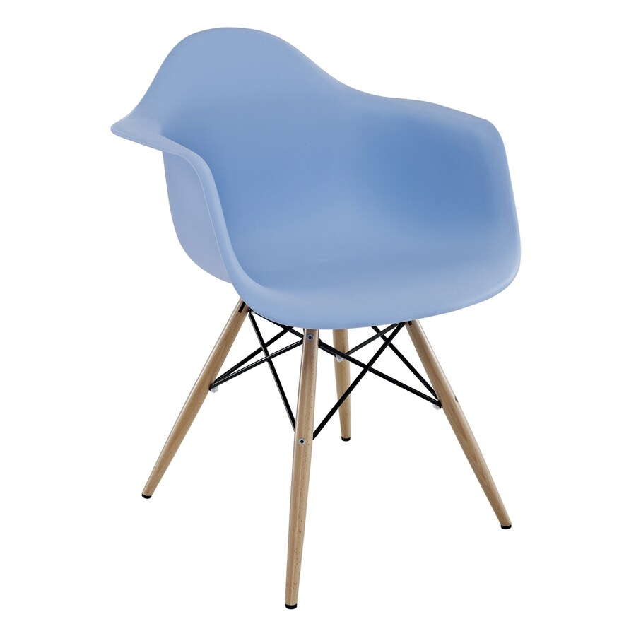 Modway Pyramid Blue Stackable Arm Chair