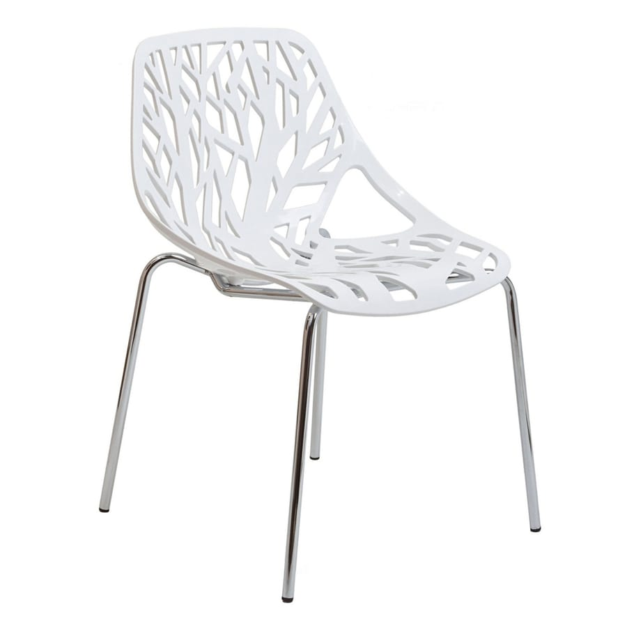 Modway Stencil White Stackable Side Chair