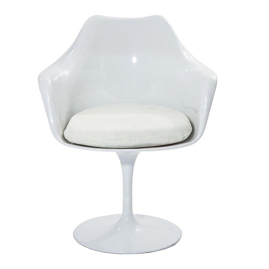 Modway 1 Lippa Gloss White with White Cushion Arm Chair