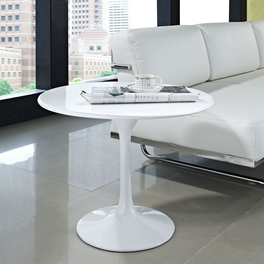 Modway Lippa Gloss White Round End Table