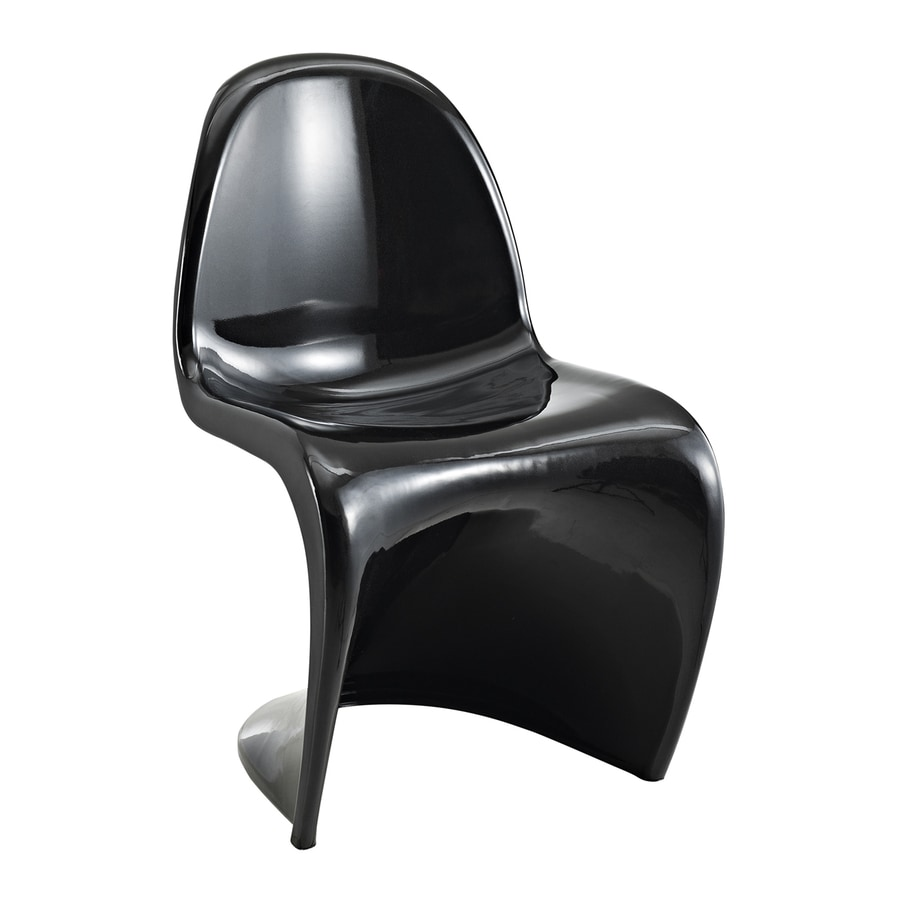 Modway Slither Gloss Black Stackable Side Chair